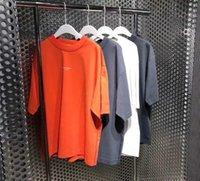 Studios ronds coton à col en coton lâche manches courtes à manches courtes pour hommes et femmes couple tops printemps été