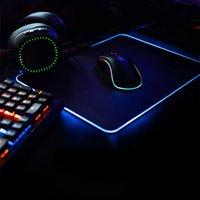 الجعة الألعاب ماوس الوسادة RGB LED متوهجة ملونة 1 محور ميناء كبير ألعاب ماوس فوس باد مكتب الفئران حصيرة 7 ألوان للكمبيوتر المحمول
