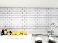 Art3d Decoración del hogar Peel and Stick Wallpaper Backsplash Pegatinas de pared 3D Azulejo para cocina Cuarto de baño Habitación con ducha Chimenea (1 lámina 30x30cm)