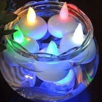 Impermeabile Led Tealight Battery Galleggiante Floating Flamereless Tea Candele Light per la decorazione del partito di Natale di compleanno di nozze