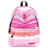 Plecak torba podróżna kobieta dzieci dziewczyny paski studenckie bookbags Lekki dzień Daypack Różowy płótno szkolny Trwałe