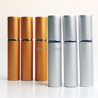 Garrafas de armazenamento frascos 8ml 8cc rolo de alumínio na garrafa prata ouro rolos de vidro de vidro perfume aroma frasco de embalagem de óleo, 50pcs