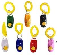 PET Click Trainer Hundetraining Clicker und Pfeife Kombination Repeller Aid Key Ring Handgelenkband EWD9126