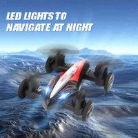 Jede D85 2-in-1 RC Drohner Hubschrauber Land en Air 2.4g Dual-Modus UAV-Professional Fliegen-Quadcopter Reiten RC-Auto-Spielzeug für Kid A0510
