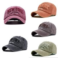 oZyc Sand washed 100% cotton baseball cap hat for women men vintage dad hat NEW YORK embroidery letter outdoor sports caps Y1220 217 W2