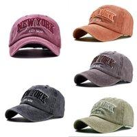 Ozyc Kum Yıkanmış 100% Pamuk Beyzbol Şapkası Şapka Kadın Erkek Vintage Baba Şapka New York Nakış Mektubu Açık Spor Kapaklar Y1220 217 W2