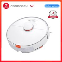 Vacuum Cleaners 2021 Roborock S7 Robot Cleaner For Home Sonic Mopping Ultrasonic Carpet Clean Alexa Mop Lifting Upgrade S5 Max S6