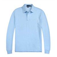 긴 Leeve Mens T 셔츠 디자인 솔리드 컬러 남성 폴로 셔츠 힙합 의류 모든 일치 목 버튼 봄과 가을 캐주얼 맨 탑 코튼