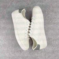 Ace مطرز الأبيض الجلود سكيت الأحذية حزام القصفي حذاء منخفض الأعلى الفم الهوائية مصمم المدربين الرجال النساء ويب تجريد الأحذية عارضة