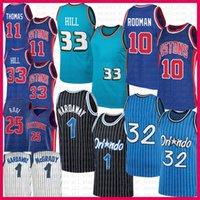 Grant 33 Hill Shaquille 32 O'Neal Basketball Jersey Dennis 10 Rodman Derrick 25 Rose Penny Isiah 11 Thomas Haraway Tracy 1 McGrady OrlandoMagic DetroitPistón