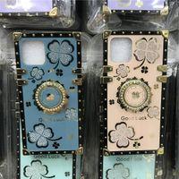 Dispositivi di lusso Bling Diamond Diamond Cases per iPhone 12 Mini 11 Pro Max XR XS X SE 7 8 Plus 6S 6 su Samsung Galaxy S21 Ultra A72 A52 A32 A12 A71 A51 Designer Case Designer
