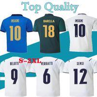 Bastoni إيطاليا Insigne Soccer Jerseys 2021 22 Italie Verratti Jorginho Mailleots Foot Incobile Belotti Berareri Chiesa Barella Italia Football Shirts Kit Size S-4XL