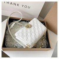 Evening Bags Fashion Chain Plaid Crossbody Bag For Women Luxury Handbags PU Designer Purse And Sac Bandouliere Femme Cc