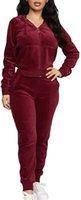 Женский 2-х кусок бархатный комплект трексуита набор с длинным рукавом zip up hoodie jogger штаны устанавливают теплый велюрный упряженный наряд