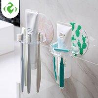 Bathroom Organizer Accessories Tools Plastic Toothbrush Holder Toothpaste Storage Rack Shaver Tooth Brush Dispenser