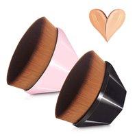 55 Magic Foundation Makeup Brush Flat Top Kabuki Hexagon Face Blusher Blusher Powder Foundation-Brush for Blending-Creat-Cream-powder