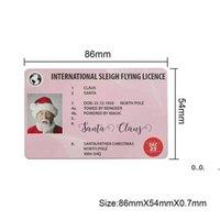 Christmas Gift Santa Greeting Cards 86*54mm Santa Claus Funny Driver's License Card EWE9630