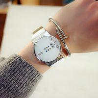 Armbanduhren Persönlichkeit Kreativität Woman's Uhren Must-Have-Mode-bunte Plattenspieltisch-Student White-Collar-Lieblingsuhr für Frauen