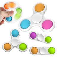 Estilos mais novos Sensory Baby Simples Dimple Brinquedos Presentes Adulto Criança Engraçado Anti-Stress dedo Spinner Reliver Reliver de Estresse Push Bubble Fidget Toyy