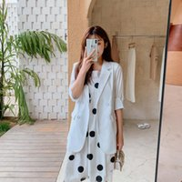 Summer Office White Blazers Women Casual Loose Solid Color Short-Sleeved Suit Jacket Female 2021 Fashion