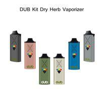 DUB Ducle Herb Vaporizer Starter Kit 1100 мАч Батарея Battery Vape Mod Устройства ручки с подарочной коробкой Бесплатный USB Зарядка 5 Уровень контроля температуры