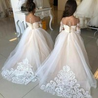 Girl's Dresses Flower Girls For Wedding Kids Pageant Dress First Holy Communion Little Baby Party Prom