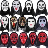 14 Styles Skeleton Horror Mask Halloween Crack Skull Mask Scream Masquerade Masks Adult Full Face Retro Party Masks BWd8935