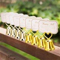 Décoration de fête Silver Heart Bell Place Plaque de carte de mariage Faveurs de mariage avec assortie pour les détenteurs de table 45pcs