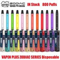 Original Vapden Plus Zodiac Series Einweggerät Kit E-Zigaretten 800 Puffs 550mAh Batterie 3,5ml Vorgefüllte Pods Cartridge Vape Pen vs Bang Puff XXL 100% authentisch