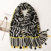 Bufandas de moda para las mujeres Tassel Shaws Wraps Fin Thin Zebra Pattern Bufanda Femenino Gran PROTECCIÓN SOL PLAYA HIJAB Accesorios