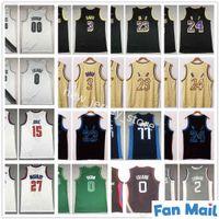 Top Quality Basketball 15 Nikola Jamal Jamal Murray Jerseys costurado 0 Damian 00 Carmelo Lillard Anthony Jayson Kawhi Tatum Leonard Davis Jersey