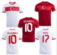 2021 Türkiye Milli Takımı Erkek Futbol Formaları Çelik Demiral Ozan Kabak Calhanoğlu Yazici Eve Uzaktan Futbol Gömlek Kısa Kollu Üniformalar