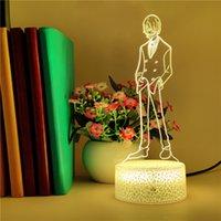 Спальня ночной свет светодиодный аниме 3D ночник один кусок Vinsmoke Sanji фигура настольная лампа смарт-телефон контроль декор день рождения детские игрушки Dropshipping
