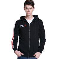 Mass Effect Hoodies Men Anime Zipper Sweatshirt Male Tracksuit Cardigan Jacket Casual Hooded Hoddies Fleece N7 Costume