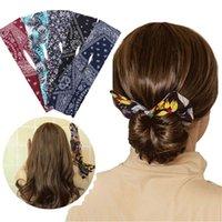 Moda Mulheres Cute Hair Bands Trajando Ferramenta Mulheres Verão Headband Imprimir Hairpin Twist Chager Maker Fácil de Usar Acessórios DIY