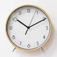 جولة الكلاسيكية الخشب الزجاج مكتب مكتب ساعة الرقمية الدائمة الجدول غرفة العتيقة تصميم الحديثة reloj دي ميسا الساعات BW50ZZ