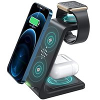 3 in 1 Wireless Charger Station QI 15W Fast Apple Charging Stand Dock for iPhone 12 11 8 Pro Max AirPods iWatch Samsung