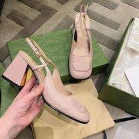 2021 Son Kadın Sandalet ve At Highs Topuklu Retro Yüksek Topuk Tasarımcı Özel Metal Toka
