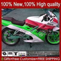 Cover body + serbatoio per Honda NS125 NSR125 R NSR 125R 125 R NSR-125R 87-90 Bodywork 105HC.33 NSR125R 87 88 89 90 NSR-125 1987 1988 1988 1989 1990 ABS Full Fairings Kit rosso verde
