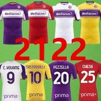 21 22 Fiorentina 축구 유니폼 2021 2022 플로렌스 홈 리브 페드로 프린스 Chiesa 셔츠 Dragowski Pezzella Veretout 축구 유니폼