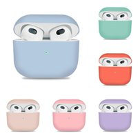 Suitable for airpods 3rd Bluetooth headset protective cover thin candy color liquid silica gel split Apple 3rd Earphone shell