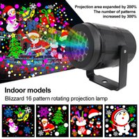 16 Patterns Christmas Laser Projector LED Effects Outdoor Light For ChristmasDay New Year Stage Par Disco Home Party Decoration High-brightness D4.0