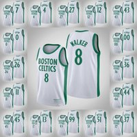 Jerseys de baloncesto BostonCelticsMen Tacko Fall Jayson Tatum Marcus Smart Kemba Walker Tristan Thompson White 2021 Swingman Jersey transpirable