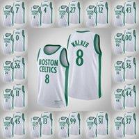 كرة السلة الفانيلة BostoncelticsMen Tacko Fall Jayson Tatum Marcus Smart Kemba Walker تريستان طومسون أبيض 2021 Swingman جيرسي تنفس