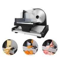 220 V Elektrikli Dilimleme Meyve Sebze Biftek Ekmek Sosis Jambon Kesici Yarı Otomatik Kesim Mutton Rulo Dilimleme Makinesi