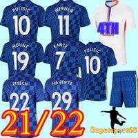 21 22 كرة القدم الفانيلة CFC Football Shirt Kante Giroud Pulisic Man Werner Mount Ziyech 4th Kids Havertz Kit T. Silva Abraham Set Chilwell