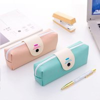 Pencil Cases Novelty Pink And Green Beard Case Stationery Storage Bag Dual Coin Purse Key Wallet Promotional Gift