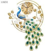 Tavuskuşu Saat Duvar Saati Duvar İzle Oturma Odası Ev Yaratıcı Moda Dilsiz Modern Dekorasyon Kişilik Saat Phoenix 210414