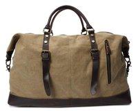 Duffel Bags Nesitu Gran tamaño grande Capacidad Vintage Ejército Verde Caqui Blanco Gris Canvas Mujeres Viajes Hombres Messenger Bag M2077