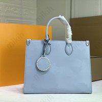 패션 womens 토트 백 클래식 스타일 탑 레이디 가방 그라디언트 편지 인쇄 디자인 대용량 33cm 고품질 핸드백 지갑